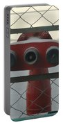 Water Hydrants Built Into A Wire Mesh Fence Portable Battery Charger