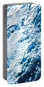 Water In A Pool Which Lock Like A Frozen Water Stream Of A River Portable Battery Charger