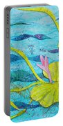Water Lilies Panorama Portable Battery Charger