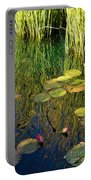 Water Lilies Reflection Portable Battery Charger