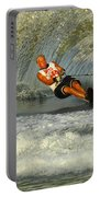 Water Skiing Magic Of Water 4 Portable Battery Charger by Bob Christopher