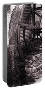 Water Wheel Old Mill Cherokee North Carolina  Portable Battery Charger by Susanne Van Hulst