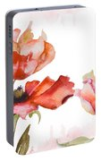 Watercolor Background Portable Battery Charger
