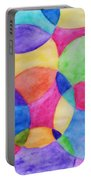 Watercolor Circles Abstract Portable Battery Charger