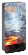 Watercolor Sunrise Portable Battery Charger