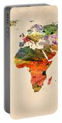 Watercolor World Map  Portable Battery Charger