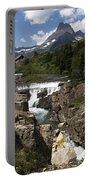 Waterfall At Many Glacier Portable Battery Charger