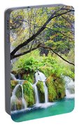 Waterfall In The Plitvice Lakes National Park Portable Battery Charger
