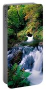 Waterfall In The Woods, Ireland Portable Battery Charger