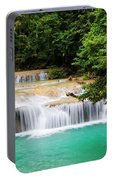 Waterfall In Tropical Forest Portable Battery Charger