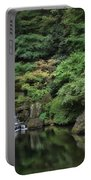Waterfall - Portland Japanese Garden - Oregon Portable Battery Charger