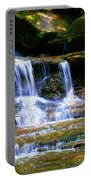 Waterfall Trio At Mcconnells Mill State Park Portable Battery Charger