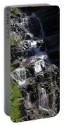 Waterfalls Along Going-to-the-sun Road Portable Battery Charger