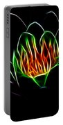 Waterlily Fractal Portable Battery Charger