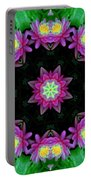 Waterlily Kaleidoscope Portable Battery Charger