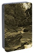 Watkins Glen In Orotone Portable Battery Charger