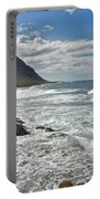 Waves Breaking On Shore 7876 Portable Battery Charger