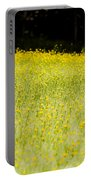 Waves Of Yellow Portable Battery Charger