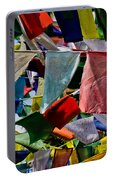 Waving Prayer Flags Portable Battery Charger