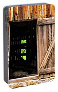 Weathered Barn Door Portable Battery Charger