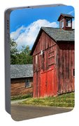 Weathered Red Barn Portable Battery Charger