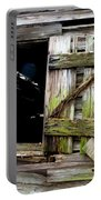 Weathered Wood Window Portable Battery Charger