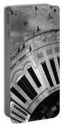Wee Bryan Texas Detail In Black And White Portable Battery Charger by Nikki Marie Smith