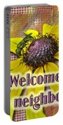 Welcome New Neighbor Card - Bee And Black-eyed Susan Portable Battery Charger