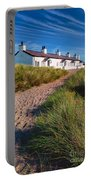 Welsh Cottages Portable Battery Charger by Adrian Evans