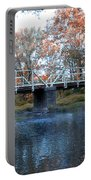 West Valley Green Road Bridge Along The Wissahickon Creek Portable Battery Charger by Bill Cannon