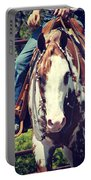 Western Paint Horse Portable Battery Charger