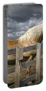 Western Palomino Horse In Alberta Canada No.1335 Portable Battery Charger