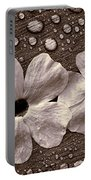 Wet Flowers And Wet Table Portable Battery Charger
