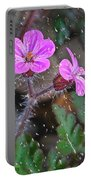Wet Geranium  Portable Battery Charger