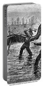 Whaling At Shore, 1875 Portable Battery Charger