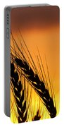 Wheat At Sunset Portable Battery Charger