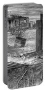 Where Does The Story End Monochrome Portable Battery Charger