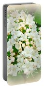 White And Cream Hydrangea Blossoms Portable Battery Charger
