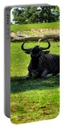 White Bearded Gnu Portable Battery Charger