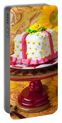 White Cake Portable Battery Charger