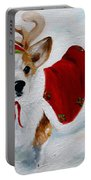 White Christmas Portable Battery Charger