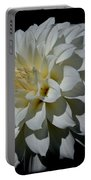 White Dahlia Portable Battery Charger