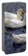 White Ducks Portable Battery Charger
