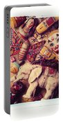 White Elephant Portable Battery Charger by Garry Gay
