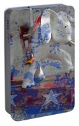 White Elephant Ride Abstract Portable Battery Charger