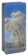 White Frost Tree Portable Battery Charger