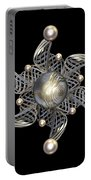 White Gold And Pearls Portable Battery Charger by Hakon Soreide