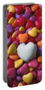 White Heart Candy Portable Battery Charger