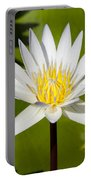 White Lotus Portable Battery Charger