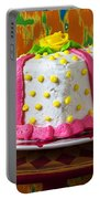 White Present Cake Portable Battery Charger